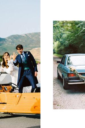 10 coches con personalidad (y que no son un clásico Rolls-Royce) para la salida de los novios.