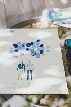 «Una huella, un deseo», una bonita alternativa para el libro de firmas de la boda.