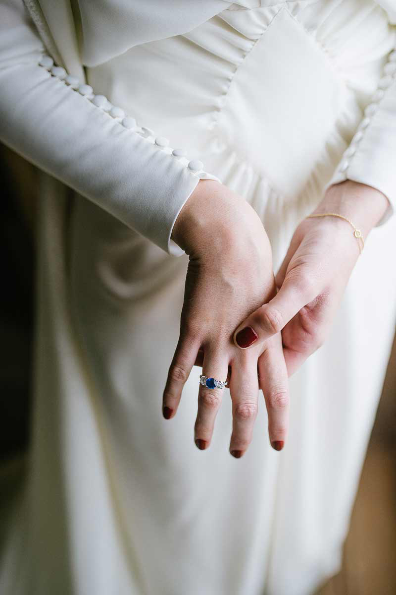 Joyas para novias con zafiros.