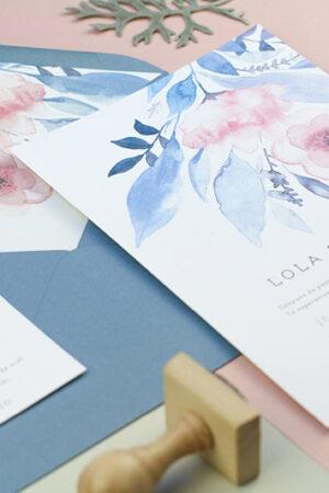 Las románticas, naíf y modernas invitaciones de boda de Project Party Studio.