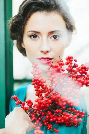 Inspiración: Maquillaje para una 'Xmas bride'.