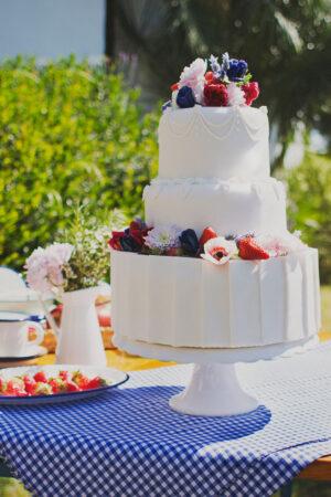 El lado más dulce de nuestra editorial Celeste: un pastel de boda de ensueño.