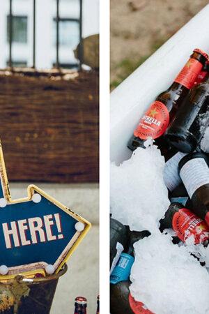 'Beer bath' o cómo tomarte una cervecita bien fría en el cóctel de la boda presentada con estilo.