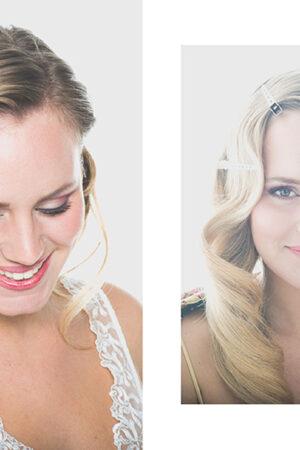 Los dos looks de novia con peinado con ondas al agua de nuestra editorial Sweet Chameleon.