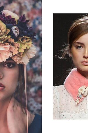 Las flores de cera de Teresa Helbig, la novia de invierno de Dánae Tobajas y los maxitocados de flores de Rita Von.