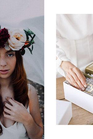 La fotografía con talento y ética de Norwud, las bonitas cajas de regalo de Une Belle Journée y los lazos para el ramo de Better With Co.