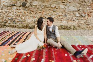 La boda folk de Ani y Guillem en L'Avellana.
