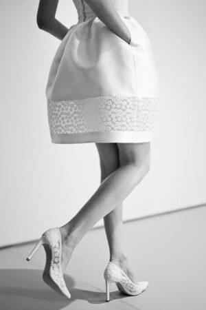 Los zapatos de novia de Hannibal Laguna.