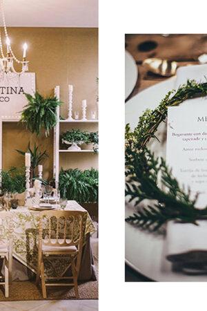 ¡Todo al verde! Dos decoraciones de boda de inspiración botánica.