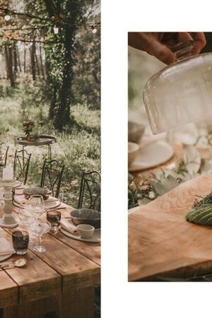 Un menú vegano y orgánico para celebrar una boda íntima en medio del bosque.