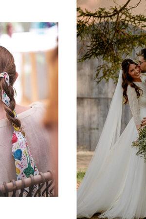 De la fotografía de boda de Sergio García, a las bonitas invitaciones de This is Kool y los pañuelos de Eugeniota como detalle para las invitadas.