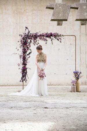 Inspiración para una boda elegante con amatistas y en color Pantone ultravioleta.