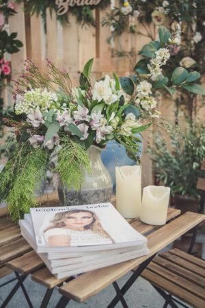 Nuestro stand en el jardín de 1001 Bodas Premium, un rincón donde leer e inspirarte.
