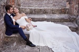 La boda de David Bisbal y Rosanna Zanetti. Sí, ya se han casado y estos son los detalles de sus looks.