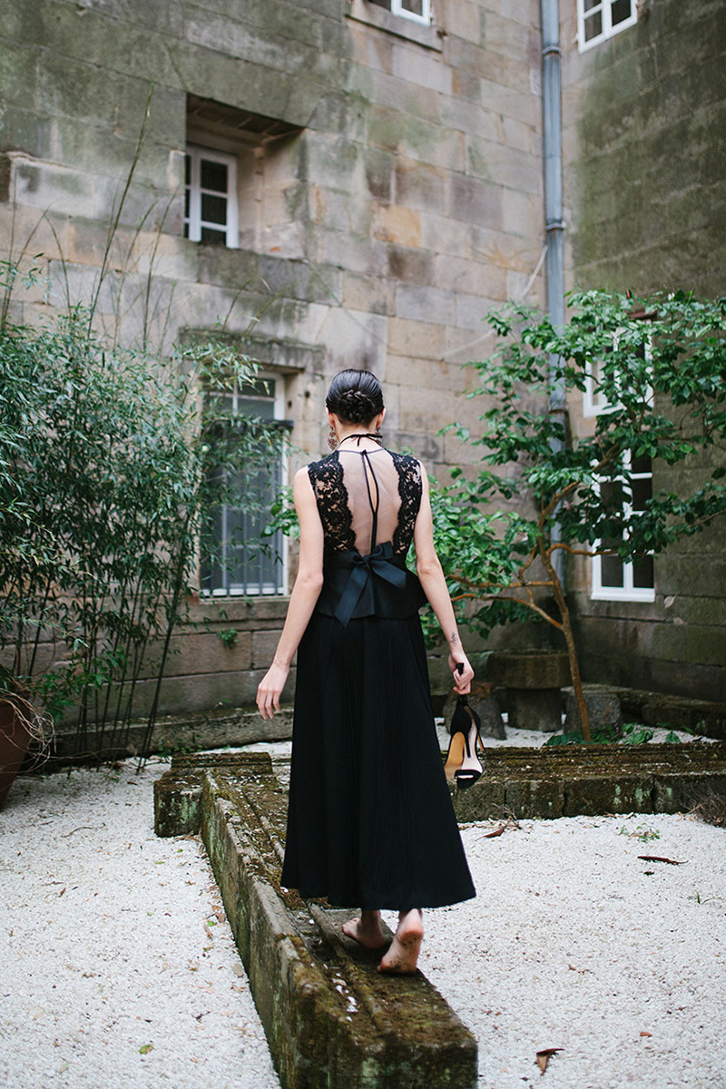 Vestido de novia negro de Juana Rique (black wedding dress)