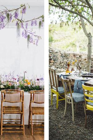 Dos perfectas decoraciones de mesas de ambiente 'slow' que te mostrarán otros estilos para la boda.