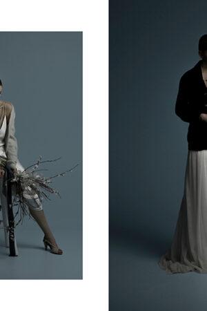 «Une touche de noir et blanc», inspiración para una novia de invierno diferente y effortlessly.