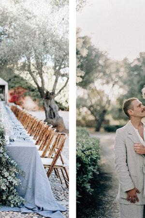 La elegancia y simplicidad mediterránea de la boda de Joe y Matt celebrada en Mallorca.