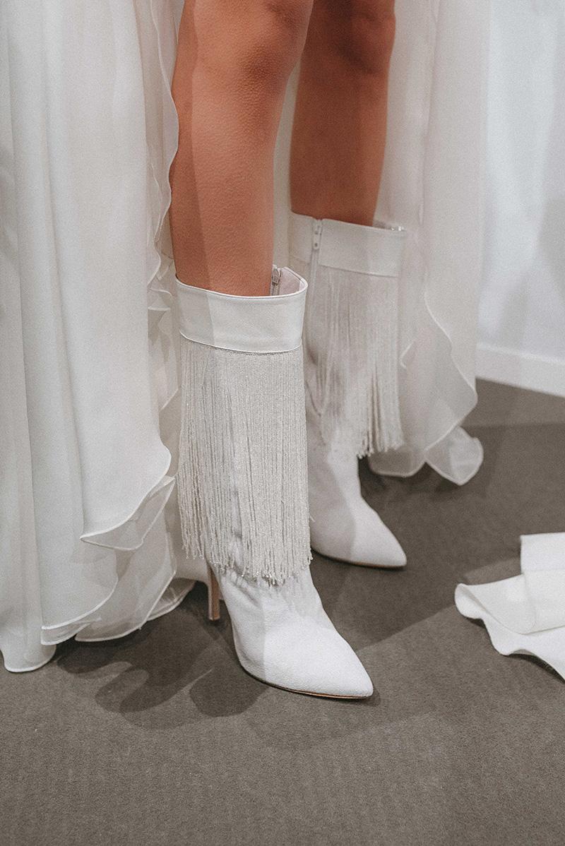 Zapatos de novia de Isabel Zapardiez.