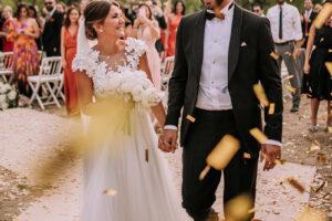Los tres vestidos de novia de Alexandra Pereira (Lovely Pepa) en su boda soñada con Ghassan Fallaha.
