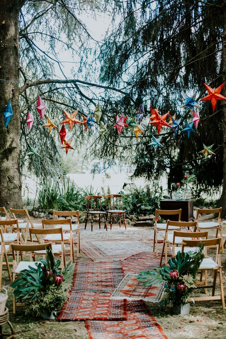 Ideas en decoración de ceremonias de bodas al aire libre.