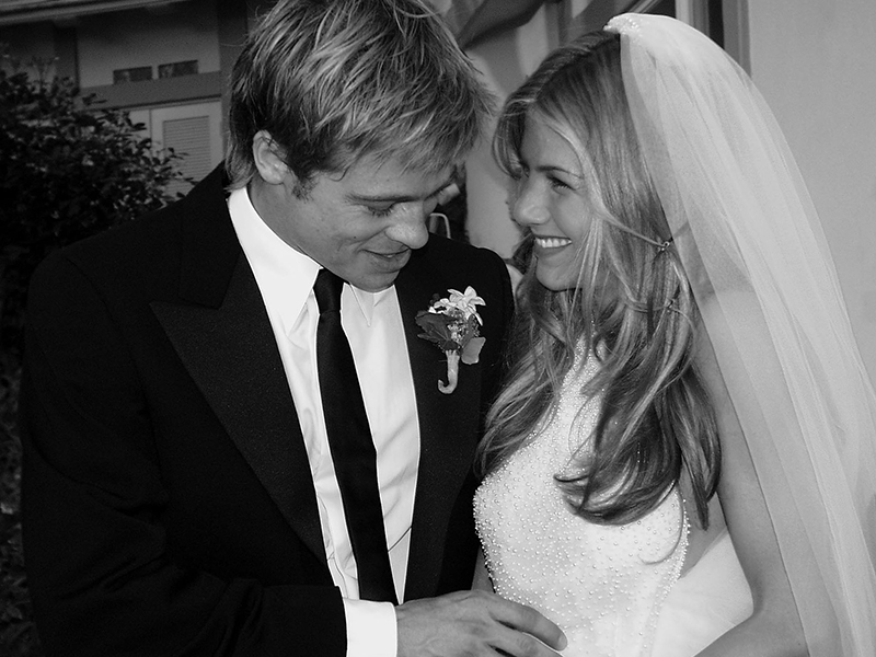 Boda de Jennifer Aniston y Brad Pitt