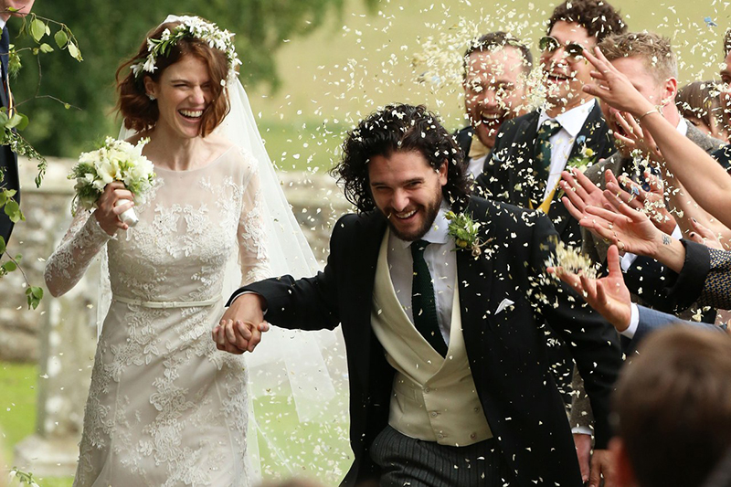 La boda de Rose Leslie y Kit Harington