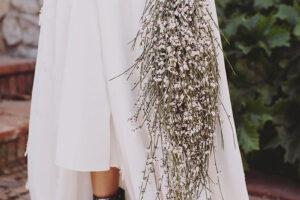 Botines de purpurina para novias.