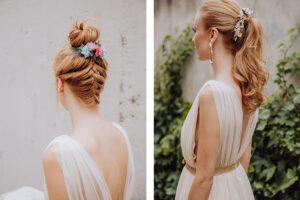 6 formas de llevar un tocado de flores preservadas (y seis peinados para lucirlos) seas novia o invitada.