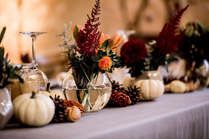 Ideas para decoración de bodas de otoño e invierno
