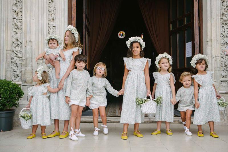 Ideas para vestir a las niñas de arras y pajes en la boda