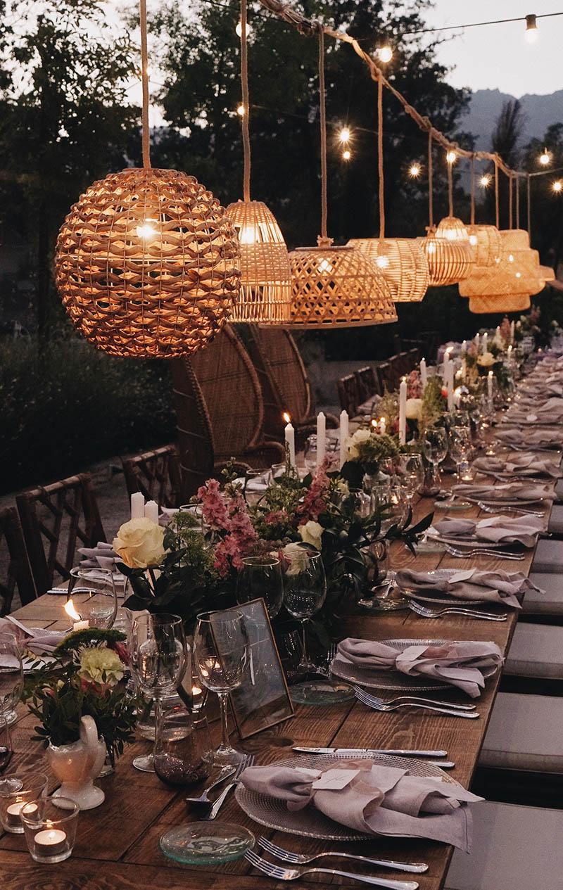 La importancia de la iluminación en una boda.