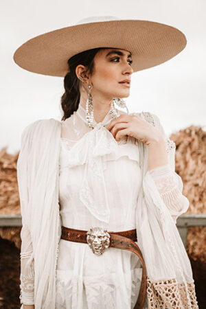 Heaven White, una novia inspirada en el lejano oeste.