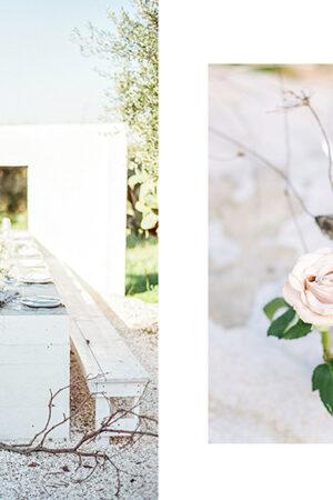Preciosa decoración de boda de estilo minimalista, orgánico y contemporáneo.