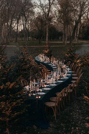 3 decoraciones de mesas para bodas de invierno en las que vivir un auténtico cuento.