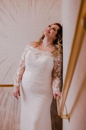 Los vestidos de novia (plus size) de Pronovias, un alegato nupcial al 'body positive'.