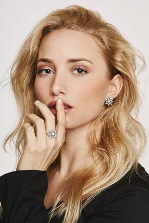 La joyería ética de David Locco: anillos de compromiso y pendientes para novias con hermosos diamantes sostenibles.