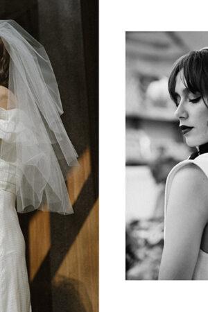 Dos vestidos de novia cortos y de moda sostenible, perfectos para novias 'effortlessly' #editorialLucía.