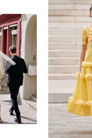 Vestidos de novia en color amarillo, sin supersticiones y más allá del blanco.