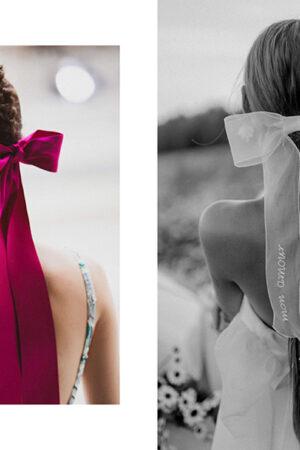 Cómo llevar el lazo, el accesorio para pelo que es tendencia entre novias e invitadas de boda.